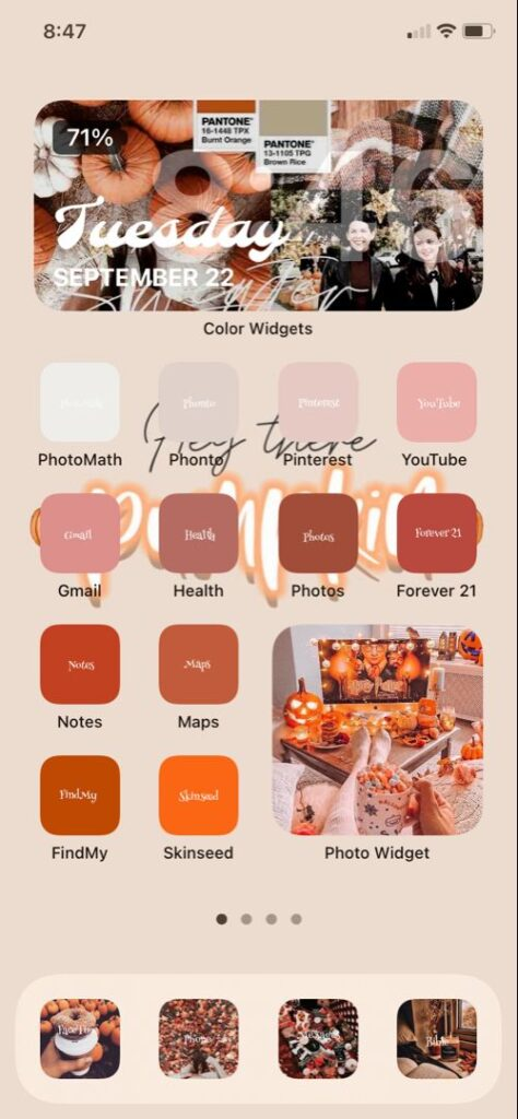 Sonbahar iOS Ana Ekran Önerisi