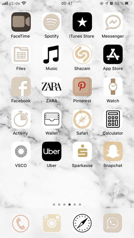 Bej iOS Ana Ekran Önerisi
