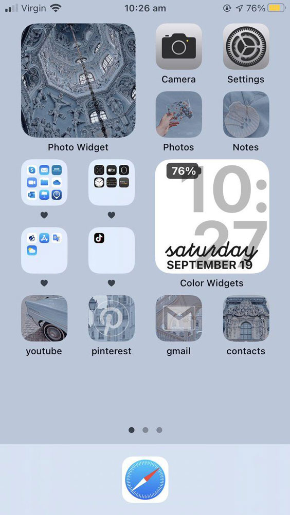 Mavi iOS Ana Ekran Önerisi
