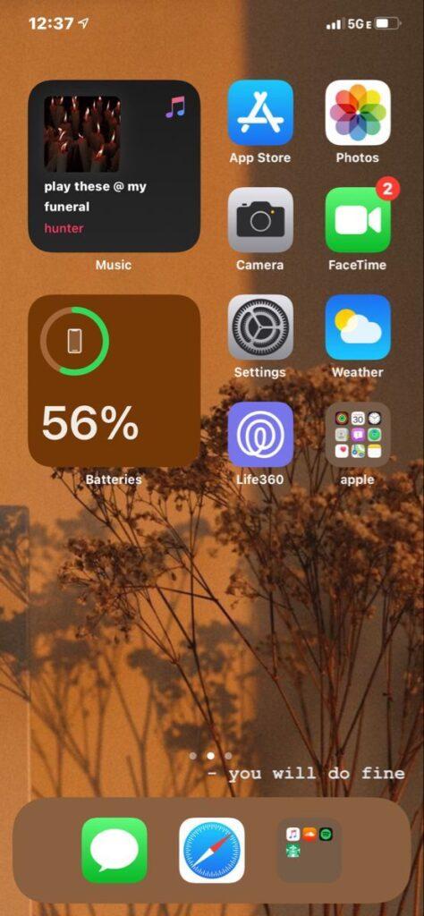 Kahve iOS Ana Ekran Önerisi
