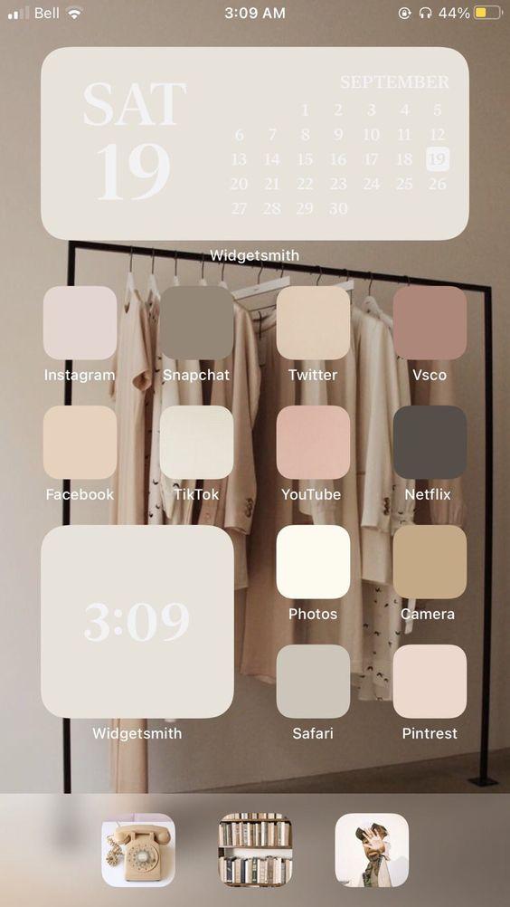 Kahverengi iOS Ana Ekran Önerisi