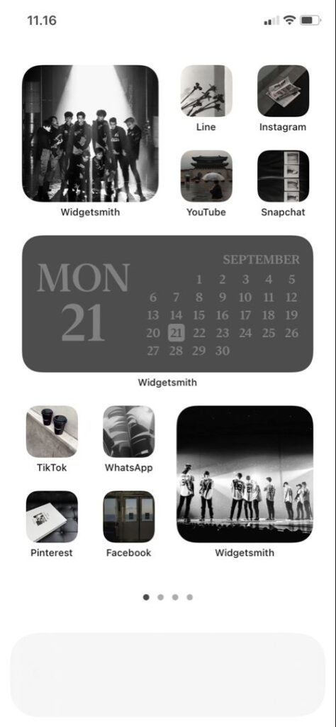 Siyah Beyaz iOS Ana Ekran Önerisi